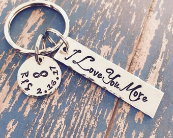 Personalized I Love You Most with infinity or heart disc option - Wedding - Engagement - Anniversary - Valentine's Day - Forever - Eternity
