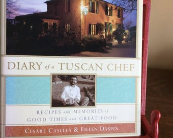 Cookbook Diary of a Tuscan Chef. Italian Cookbook