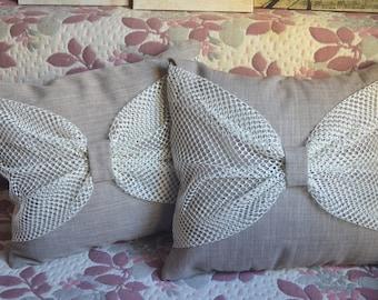 Pillow . A natural fabric. Decorative pillow. The linen fabric. Dumka. Kit . Cushion.