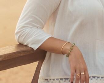 Open ring bracelet gold Vermeil