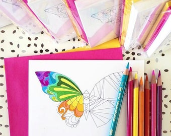 SARIELLA Saki Butterfly Notecard Set of 10