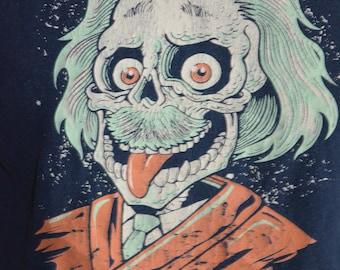 Vintage TeeFury Zombie Einstein E=MC2 Graphic T-Shirt (Size: L)