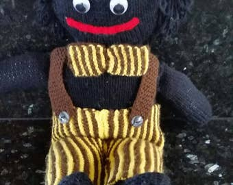 A vintage hand knitted stuffed  Gollie