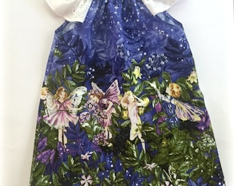 Girls Dress, Handmade, Pretty Fairies - Available in size 2 and 3