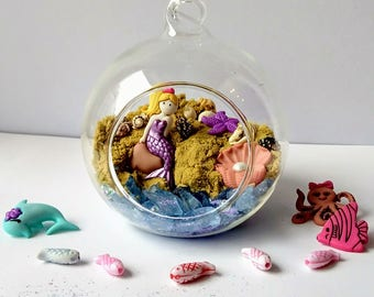 Beach Terrarium, Mermaid Terrarium, Miniature Beach, Fairy Terrarium