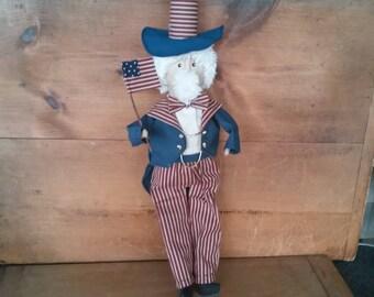 Primitive Patriotic Uncle Sam