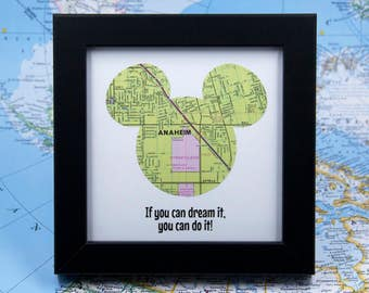 Disneyland Art, Disney Land, Disneyland Map, Mouse Ears, Disney Nursery Art, Disney Gift Ideas, If You Can Dream It, You Can Do It