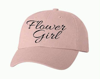 Flower Girl 01 Bridal Baseball Style Hat/Cap/Bridal/Wedding/Special Activities/Parties/Showers