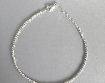 Bead bracelet, Friendship bracelet, Ankle bracelet, Best frieng gift, Bridesmade gift, Silver Ankle Bracelet, Leg bracelet, Delicate