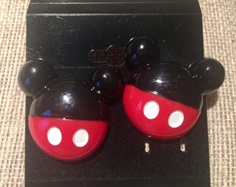 Large,Minnie Mouse or Mickey Mouse Earrings****pierced