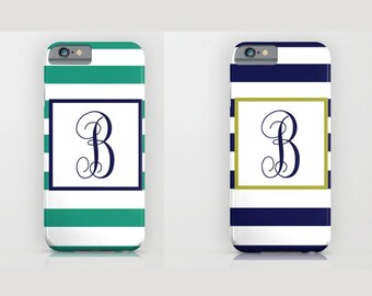Custom Device case for iPhone 5/5s, iPhone 6/6s, iPhone 7 / 7s, Samsung, Galaxy, Phone, Monogram, Blue, Custom, Classic, Gift, Christmas