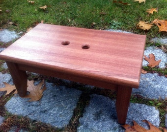 Hardwood Mahogany Step Stool Very Sturdy