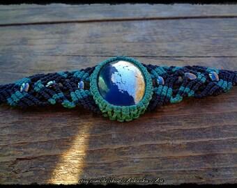 Macrame bracelet with Hematite
