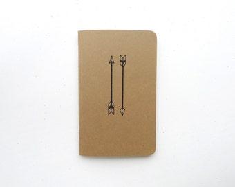 Arrow Jotter Notebook / Fantasy Pocket Journal / Plain or Graph Paper