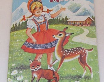 Vintage 1960s Children's Book - Little Swiss Miss
