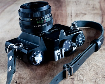 Adjustable Leather Camera Strap, Nikon camera strap, Canon camera strap, vintage camera strap, retro camera strap, Leica strap, dslr camera