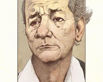 Bill Murray Illustrated Portrait