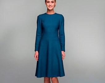 SALE 30%! Light blue office dress