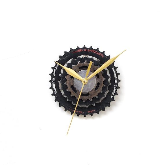 Steampunk Clock, Unique Wall Clock, Bike Clock, Industrial Clock, Small Wall Clock, Boyfriend Gift, Husband Gift, Cyclist Gift, Metal Clock