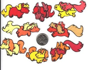 Pudgy Pony Magnets - Cool Colours
