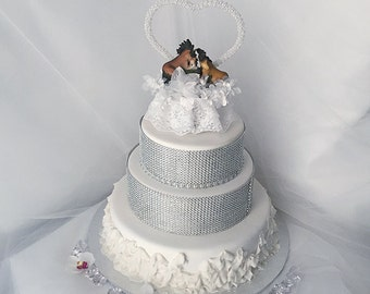 Outdoor Wedding Decorations Cake Topper Horse