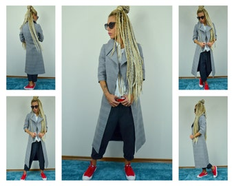 Long winter jacket/ tight Wool Long Jacket/ Winter coat /Woman Coat