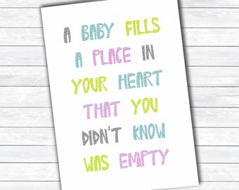 New baby, baby shower card, mum to be