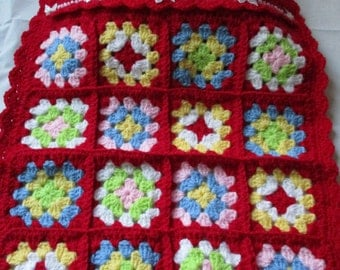 hand crochet doll blanket and pillow set