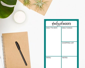 Daily Planner Notepad • To Do List • Turquoise Notepad • To Do List Notepad • Planner Notepad • Daily Planner • Organization • Productivity