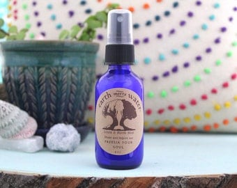 Freesia Your Soul Linen and Room Mist - Room Spray - Linen Spray - Body Mist - 2 oz Cobalt Blue Bottle - Air Mist - Room Deodorizer