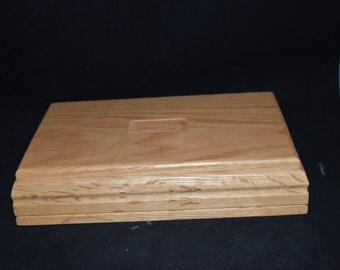 Oak / wood / unisex / jewelry box / gold velour lining / Price Products / Taiwan / jewelry storage / storage / oak / rings / bracelets