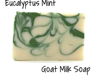 Stress Relief (Eucalyptus Spearmint) Goat Milk Soap
