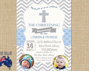 Printable Christening or Baptism Invitation