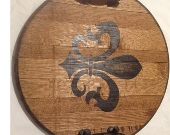 Kentucky Bourbon/Wine Fluer De Lis tray