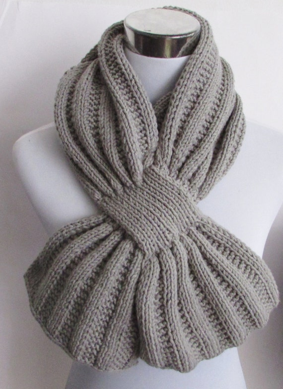 Unisex Keyhole Scarf Knitting Pattern - Men's Scarf ...