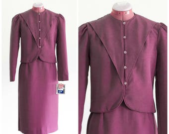 1970s Dusty rose skirt suit New with tags