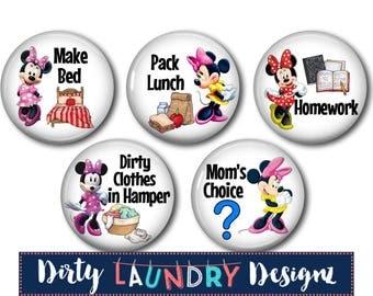 Kids Chore Magnets/Magnetic Chore Chart Buttons/Kids Chore Charts/Magnetic Chore Chart/Kids Chore Chart/Chore Magnets