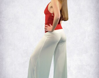 Tango / Salsa/ Latin/ Dance long pants white, black, red, petrol, dark green