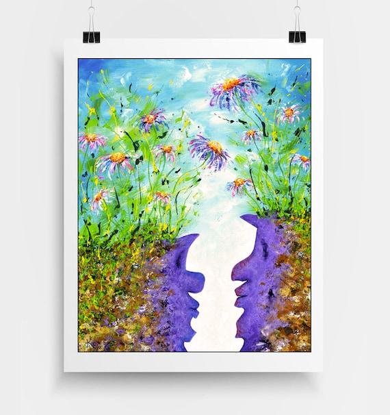 Abstract Landscape Decor - Modern Landscape Decor - Visionary Wall Art - Abstract Flower Decor - Surreal Wall Art Print