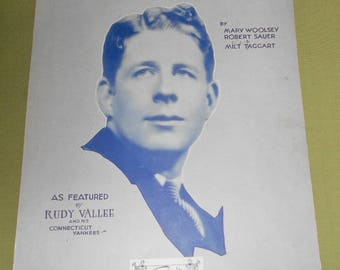 1929 1930 Sheet Music - 2 Pieces ~ Little White Lies & Springtime In The Rockies  Rudy Vallee