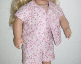 Free SHIPPING!  18 in doll clothes 8 piece pajama set, made to fit American Girl & Our Generation dolls