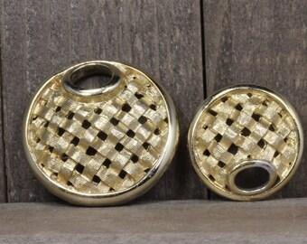 Estate, Sarah Cov Gold Toned Pin/Brooch Set