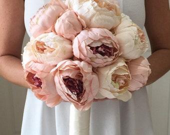 Blush Bouquet, Pink Peony Bouquet, Peony Wedding Bouquet, Blush Peony Bouquet, Peony Bouquet, Cream Peony Bouquet, Ivory Bouquet, Peony Brid
