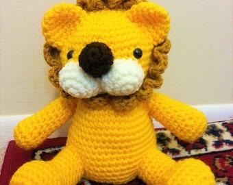 Amigurumi crochet stuffed lion