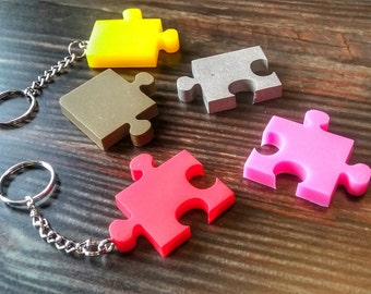 Autism / Autism Awareness / Autism Keychain / Sensory Disorder / Cool Keychains / Party Favors / Under 20 / Absolutely Adrian / Puzzle Piece