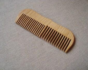 Oak wood comb. Wooden comb