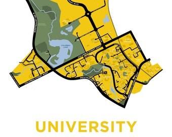 University of Waterloo Map Print