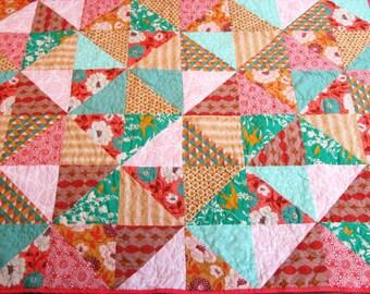 Custom quilt - geometric quilt - twin quilt - throw quilt - queen quilt - king quilt - patchwork quilt  - crib quilt - floral quilt - tri