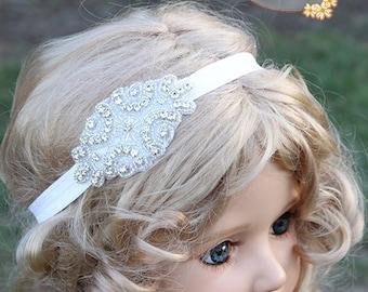 crystal rhinestone headband, blink girls headband,vintage headband,crystal flower girl headband,girls wedding headband,crystal baby headband