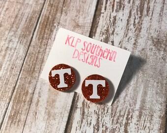 Glitter Tennessee Earring / SEC / Tennessee / UT / Vols / Volunteers